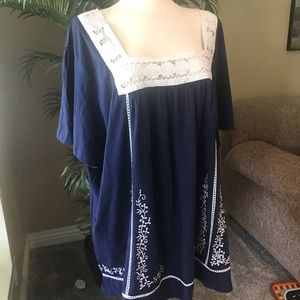Woman Within plus size 100% soft cotton top